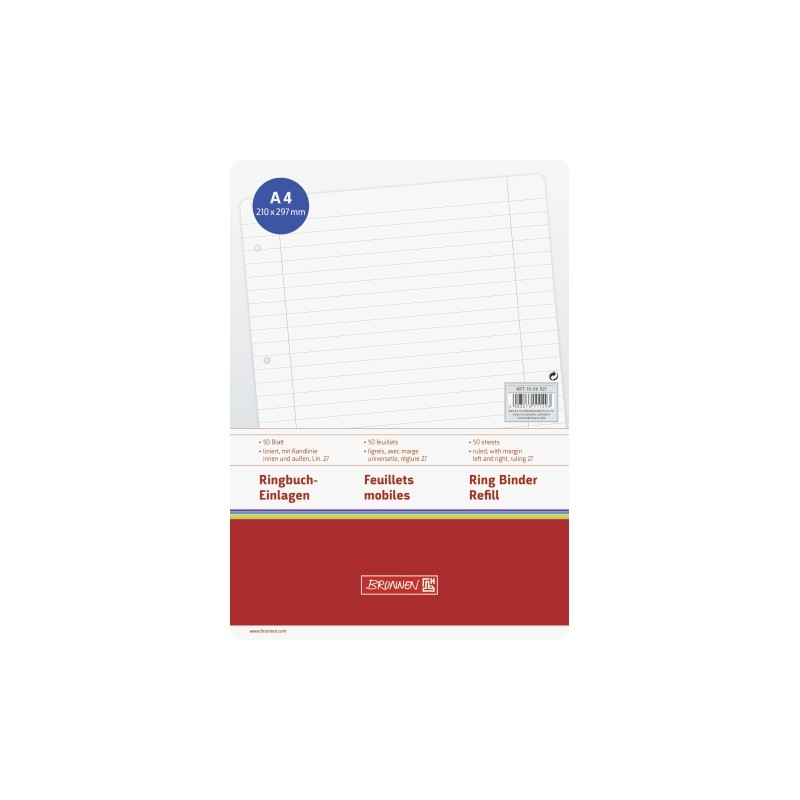 BRUNNEN Ringbucheinlagen · DIN A4 · Lineatur 27 · 50 Blatt