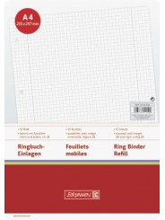 BRUNNEN Ringbucheinlagen · DIN A4 · kariert · Lineatur 28 · 50 Blatt
