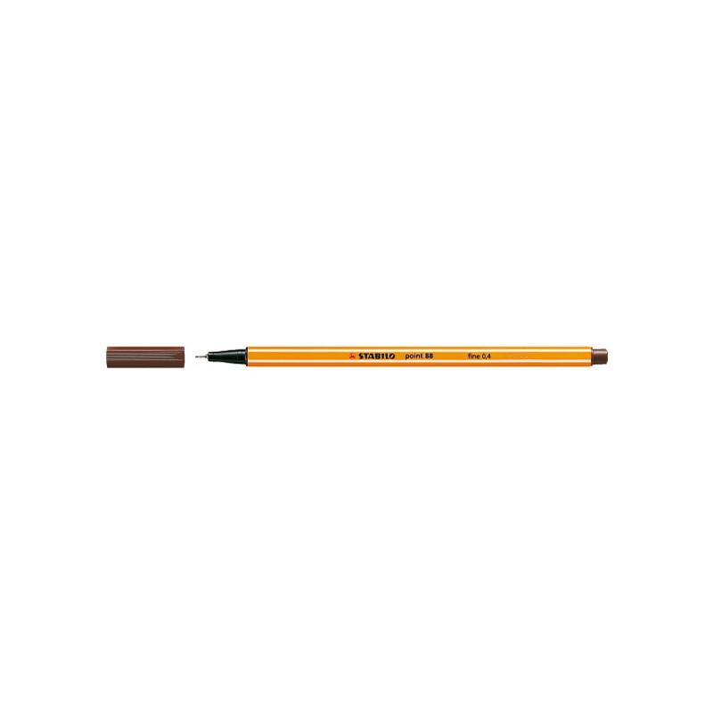 STABILO® Fineliner STABILO® point 88® · 0,4 mm · braun