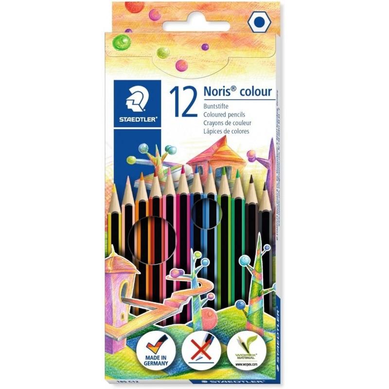 STAEDTLER® Buntstifte Noris® colour 185 C12 · 3 mm · Kartonetui mit 12 Farben