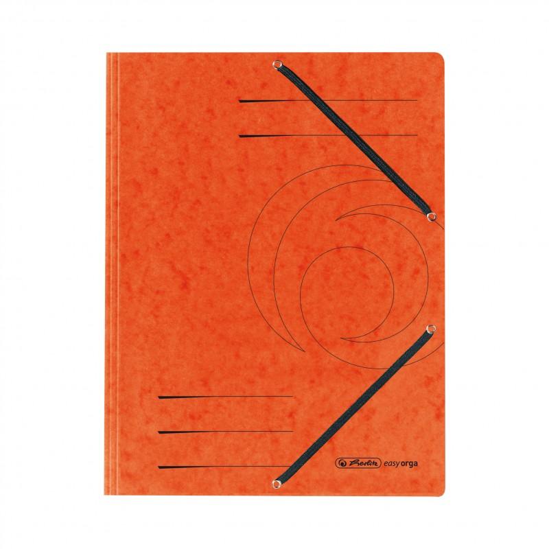 Herlitz Einschlagmappe / Jurismappe Colorspan · mit Gummizug · Colorspan-Karton, 355 g/qm · orange