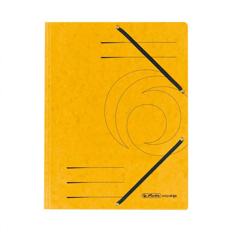 Herlitz Einschlagmappe / Jurismappe Colorspan · mit Gummizug · Colorspan-Karton, 355 g/qm · gelb