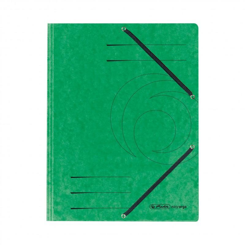 Herlitz Einschlagmappe / Jurismappe Colorspan · mit Gummizug · Colorspan-Karton, 355 g/qm · grün
