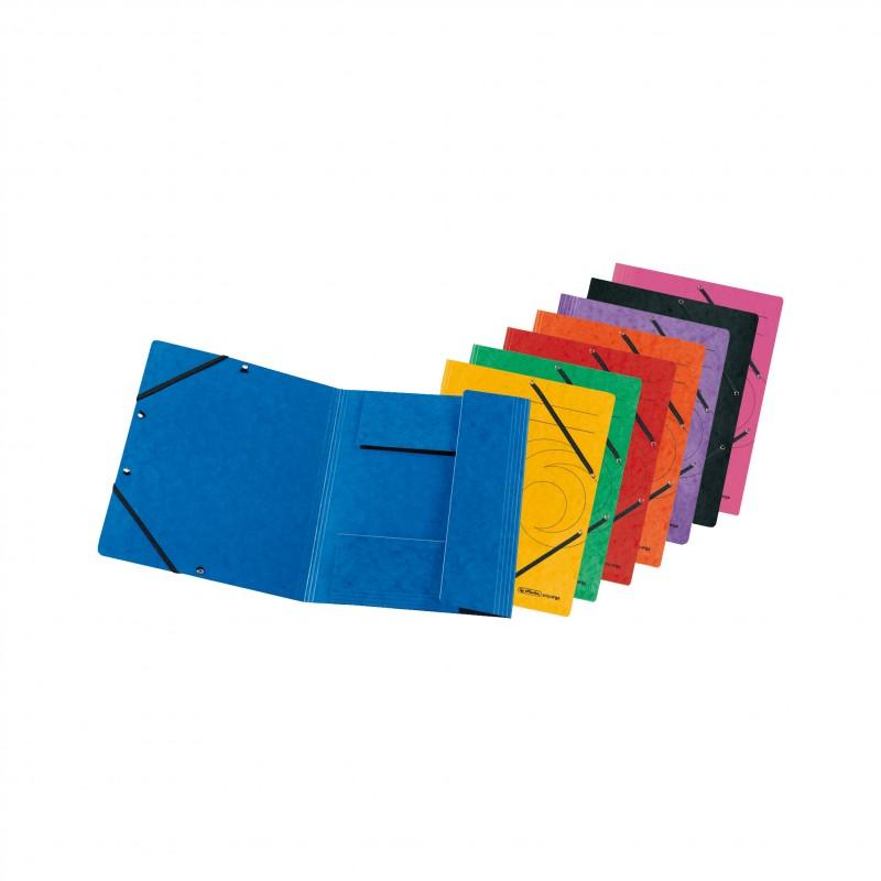 Herlitz Einschlagmappe / Jurismappe Colorspan · mit Gummizug · Colorspan-Karton, 355 g/qm · rot