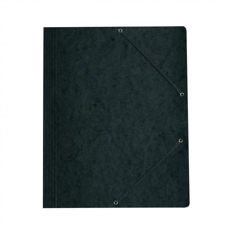Herlitz Einschlagmappe / Jurismappe Colorspan · mit Gummizug · Colorspan-Karton, 355 g/qm · schwarz