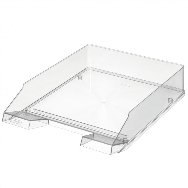 Herlitz Ablagekorb · Briefkorb · A4-C4 · glasklar transparent