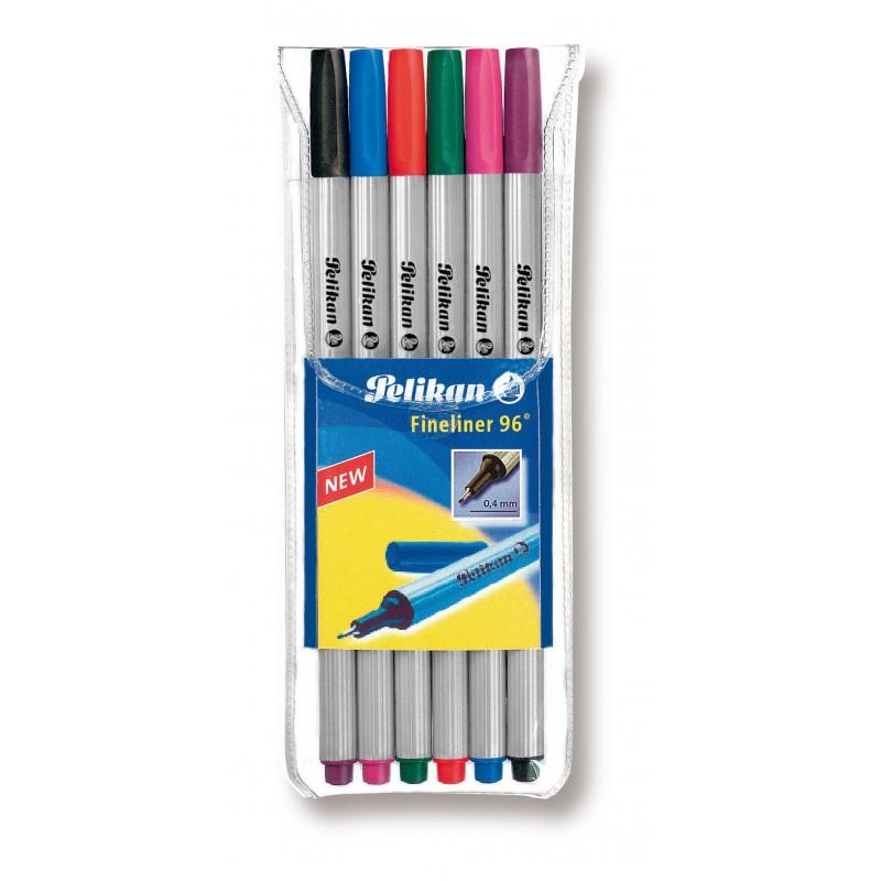 Pelikan Fineliner 96 · 6 Farben
