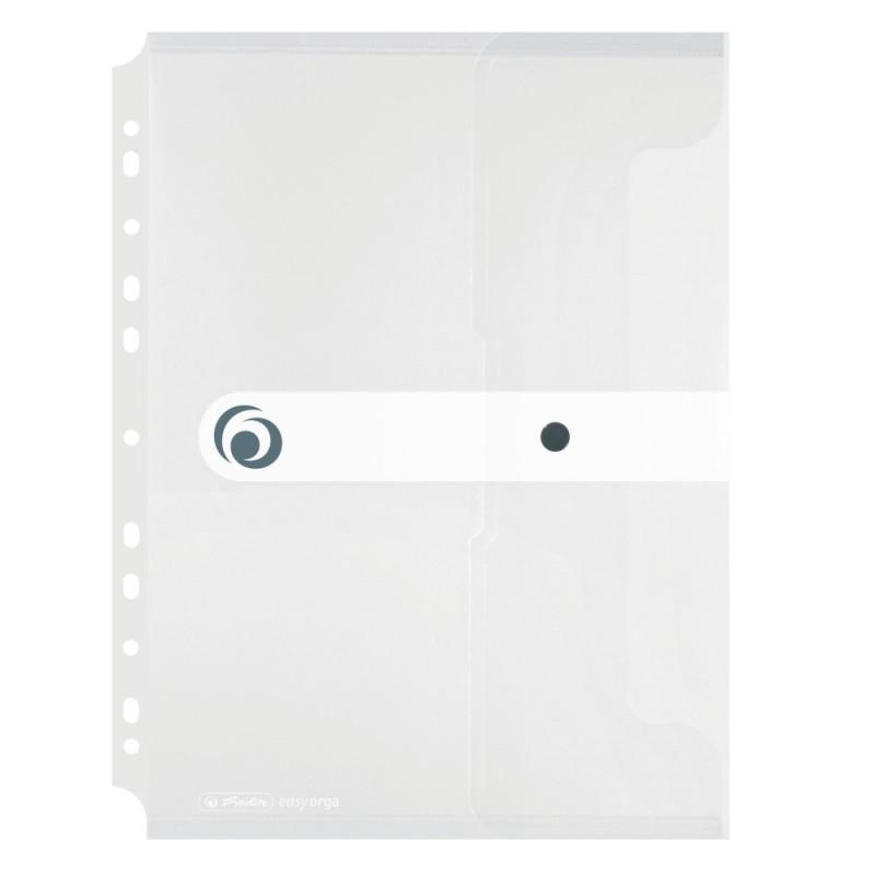 Herlitz Dokumententasche zum Abheften · easy orga to to · für DIN A4 · transparent · mit Druckknopfverschluss