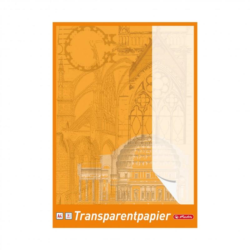 Herlitz Transparent-Zeichenpapier · A4 · 60 g/qm · 30 Blatt
