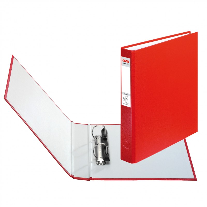 Herlitz Ringbuch · maX.file protect · A5 · rot