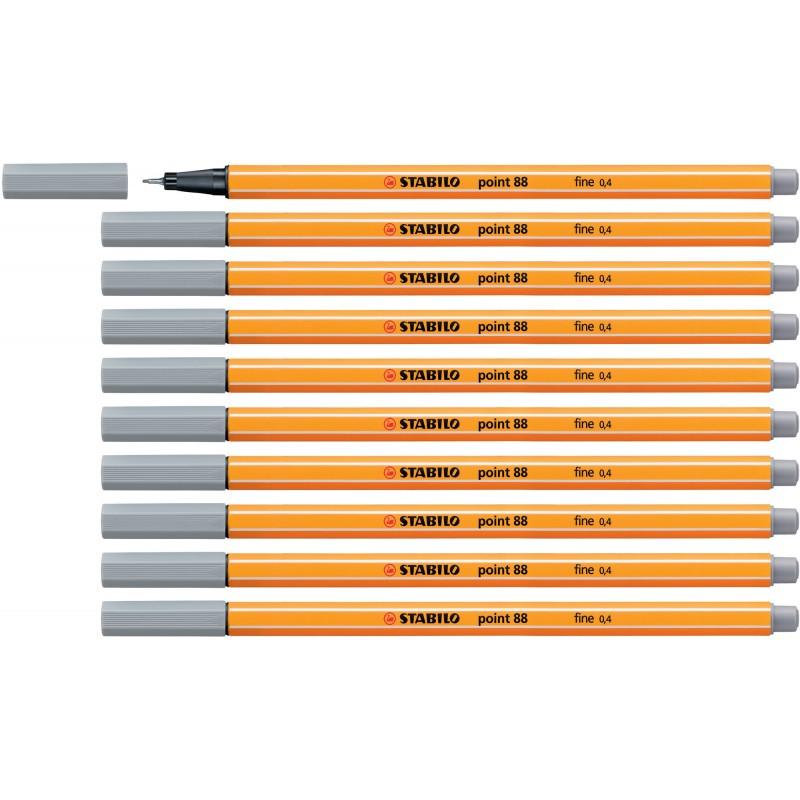 STABILO® Fineliner STABILO® point 88® · 0,4 mm · mittelgrau