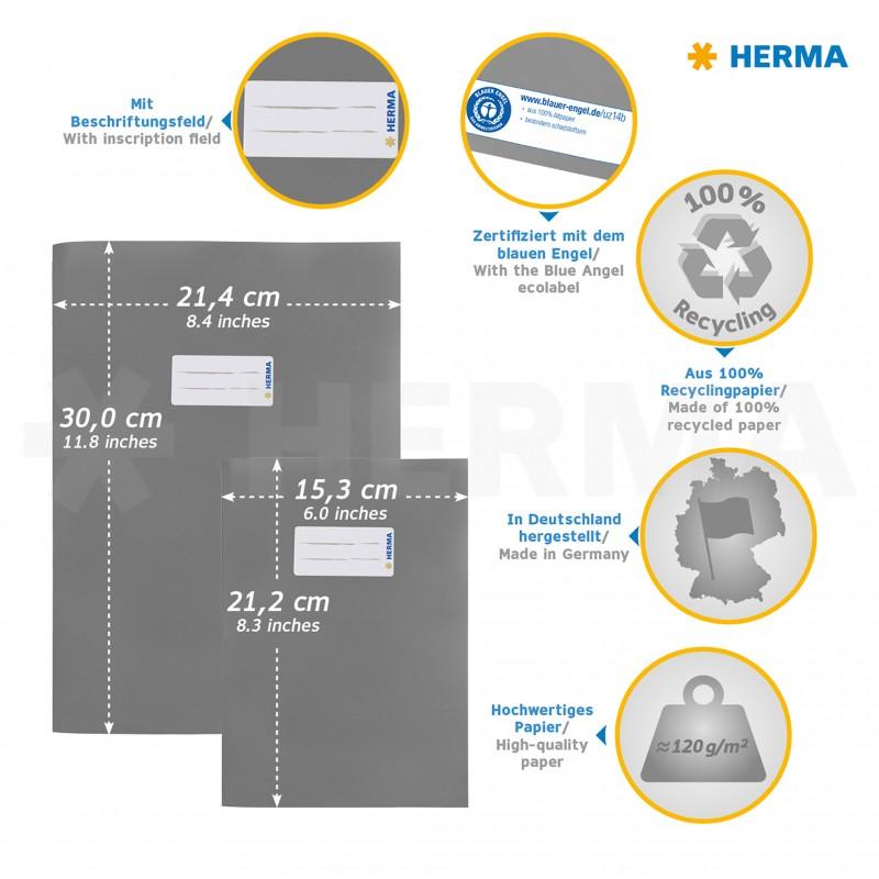 HERMA Heftschoner · Papier · A5 · dunkelrot
