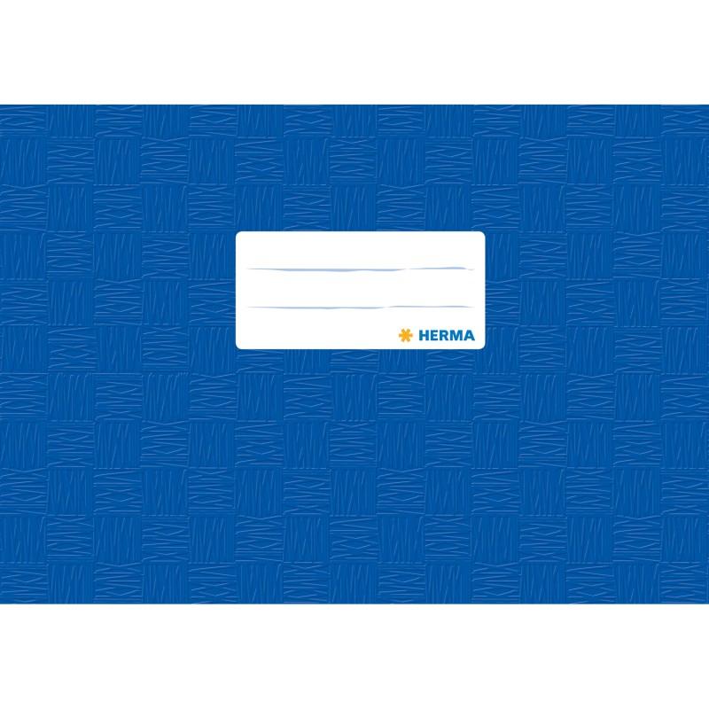HERMA Heftschoner · PP · A5 quer · gedeckt · dunkelblau