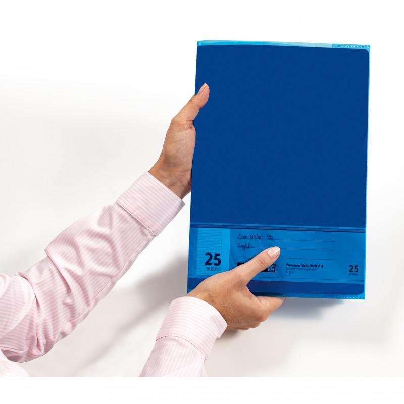 HERMA Heftschoner · PP · A5 · transparent · dunkelblau