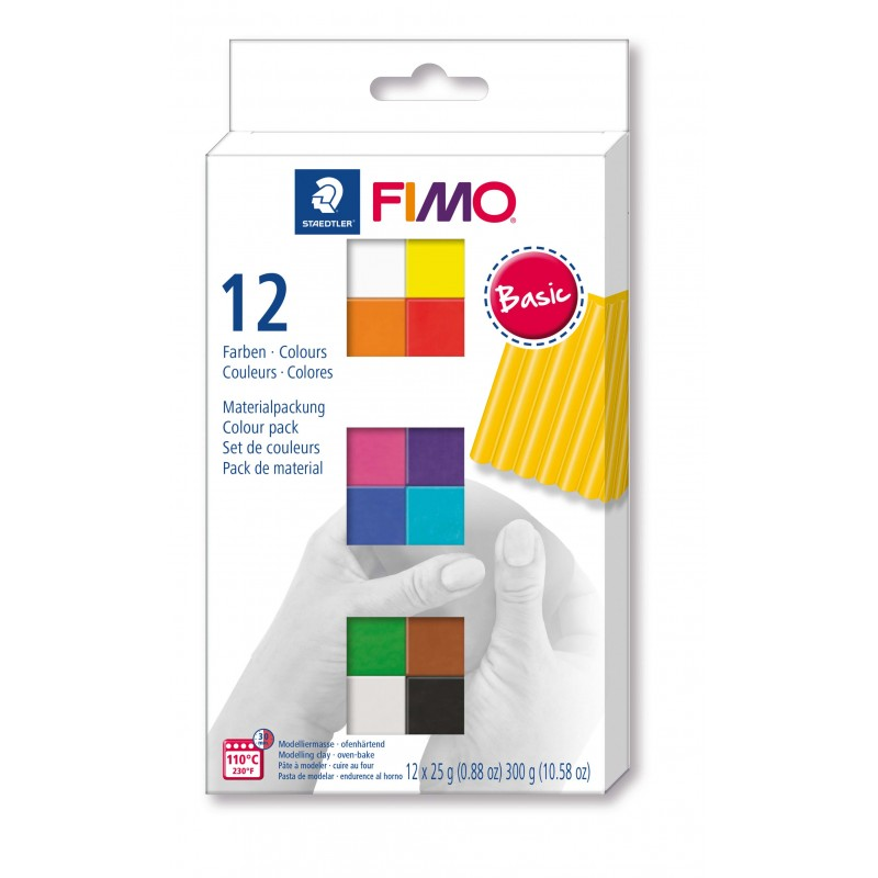 copy of FIMO® soft ofenhärtende STAEDTLER® Modelliermasse - Kartonetui mit 12 sortierten Basic-Farben, 12 Halbblöcke à 25g