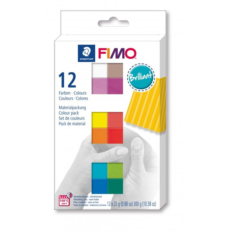 FIMO® soft ofenhärtende STAEDTLER® Modelliermasse - Kartonetui mit 12 Basic-Farben, 12 Halbblöcke à 25g8023 C12