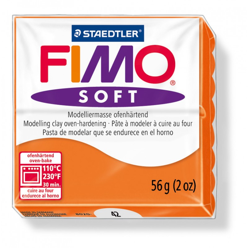 FIMO® soft ofenhärtende STAEDTLER® Modelliermasse - 57g - orange mandarine - 8020-42