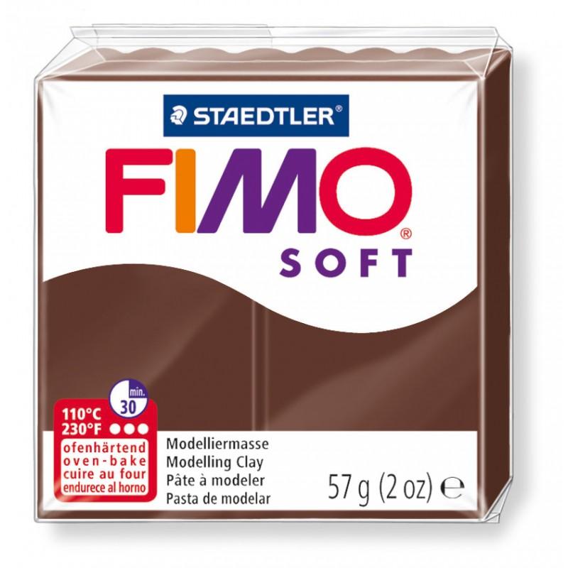 FIMO® soft ofenhärtende STAEDTLER® Modelliermasse - 57g - schoko braun- 8020-75