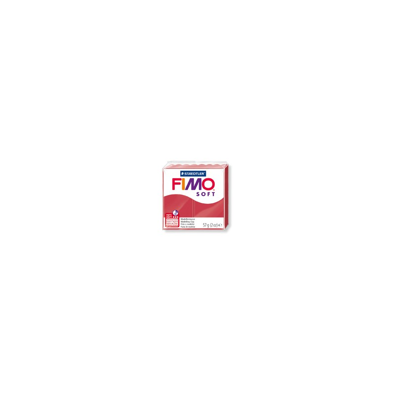 FIMO® soft ofenhärtende STAEDTLER® Modelliermasse - 57g - kirschrot - 8020-26