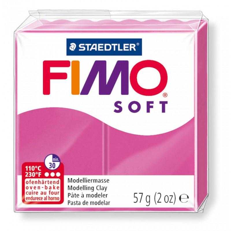 FIMO® soft ofenhärtende STAEDTLER® Modelliermasse - 57g - himbeere pink rosa 8020-22