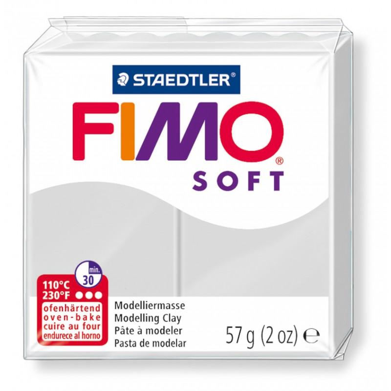 FIMO® soft ofenhärtende STAEDTLER® Modelliermasse - 57g - delfingrau - 8020-80