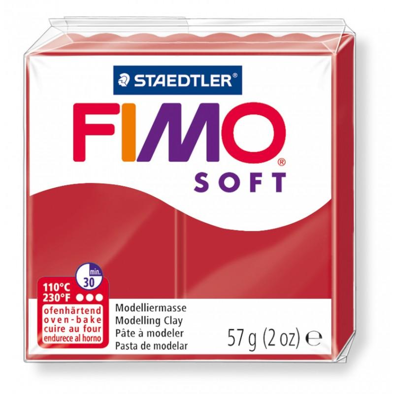 FIMO® soft ofenhärtende STAEDTLER® Modelliermasse - 57g - weihnachtsrot - 8020-2 P
