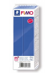 FIMO® soft ofenhärtende STAEDTLER® Modelliermasse - Großblock 454g - brillantblau blau - 8021-33