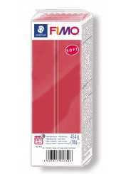 FIMO® soft ofenhärtende STAEDTLER® Modelliermasse - Großblock 454g - kirschrot - 8021-26