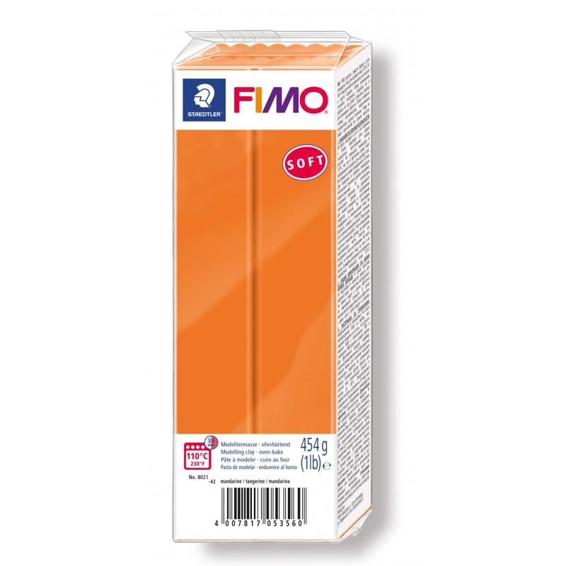 FIMO® soft ofenhärtende STAEDTLER® Modelliermasse - Großblock 454g - orange mandarine - 8021-42