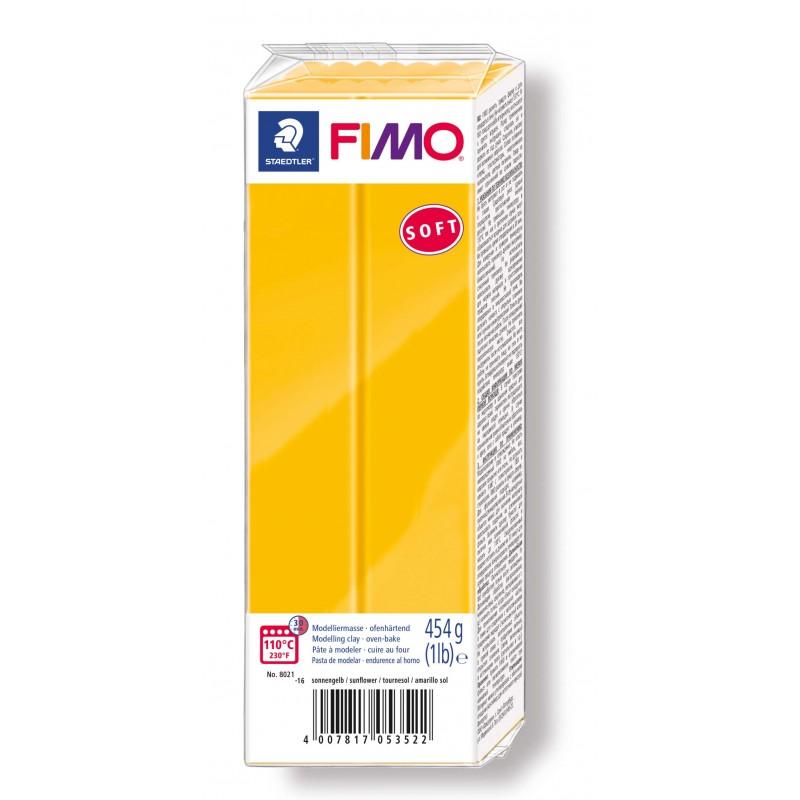 FIMO® soft ofenhärtende STAEDTLER® Modelliermasse - Großblock 454g - sonnengelb - 8021-16