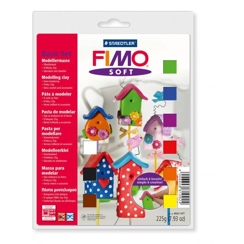 FIMO® soft STAEDTLER® Modelliermasse - Basispack mit 12 Farben, 8023 10