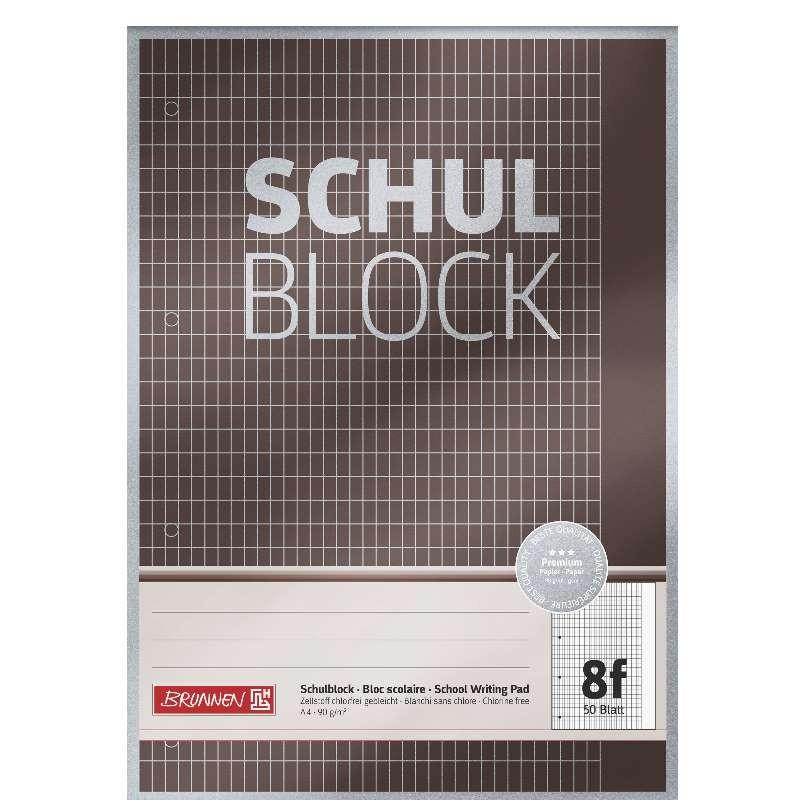 BRUNNEN Schulblock · DIN A4 · Lineatur 8f · 50 Blatt · Premium