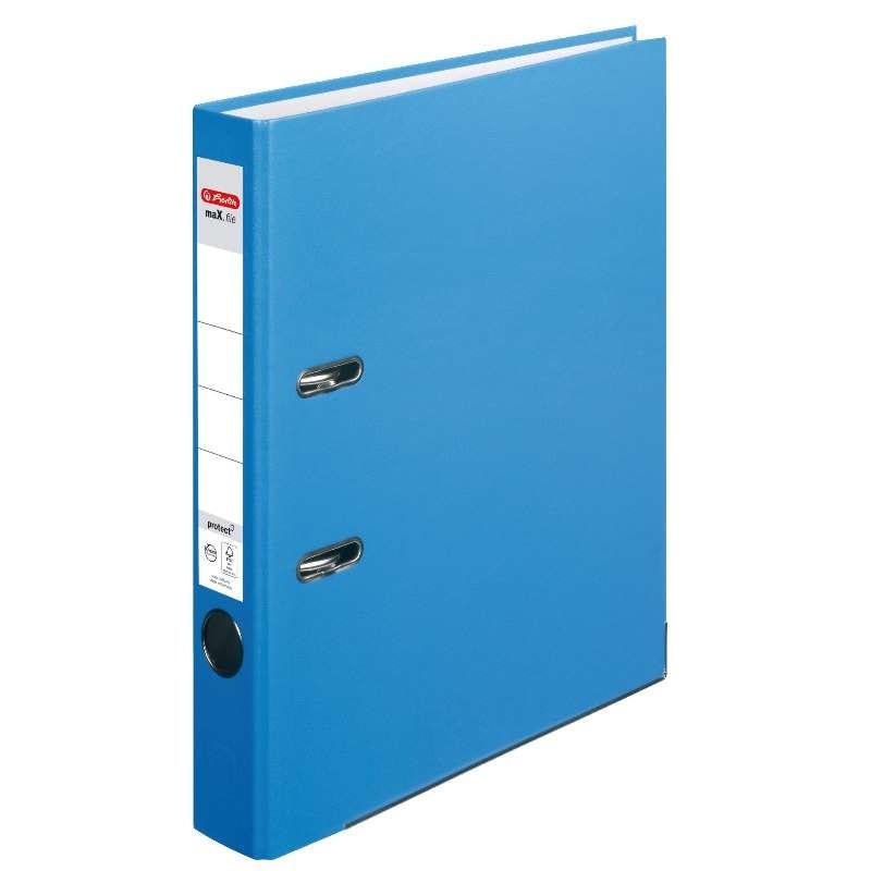 Herlitz Ordner A4 · schmal (5cm)  · maX.file protect · acqua