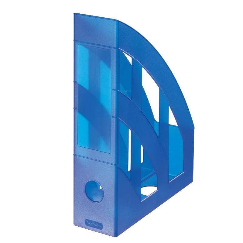 Herlitz Stehsammler · classic · blau transluzent