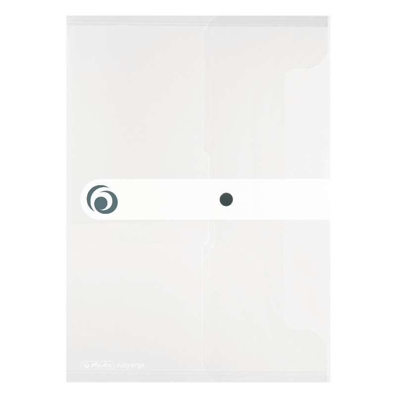 herlitz Dokumententasche · easy orga to to · für DIN A4 · transparent · mit Druckknopfverschluss