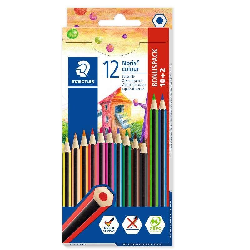 STAEDTLER® Buntstifte Noris® colour 185 C12P · 3 mm · Kartonetui mit 12 Farben